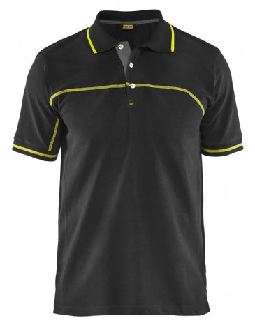 Blaklader 3389 Pique Polo Shirt (Black/Yellow)